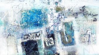 "Obra ""Wall"", técnica mixta de Abdulkarim Majdal Beik."