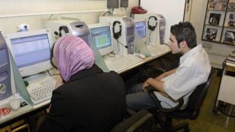 Usuarios de un cibercafé