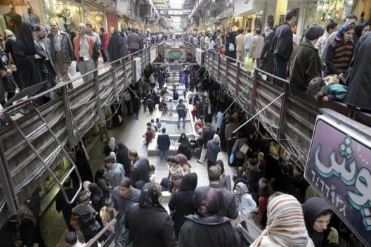 Centro comercial la víspera del Año Nuevo iraní