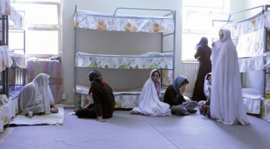 Una de las celdas en la sección de mujeres de la prisión de Evin
