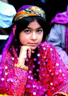 Una niña kurda iraní. Los kurdos representan el 7% de la población de la República Islámica