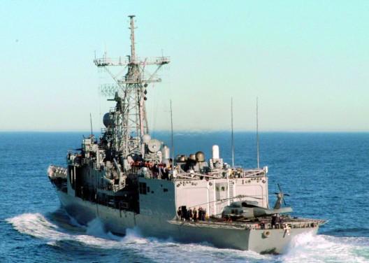 La fragata de los EEUU Ingraham