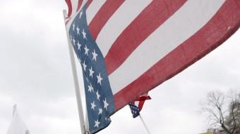 Concentración contra la presencia de las tropas norteamericanas en Iraq frente a la Casa Blanca