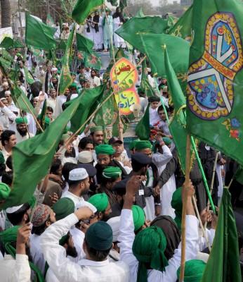 Vista general de las celebraciones del aniversario del nacimiento del profeta Muhammad