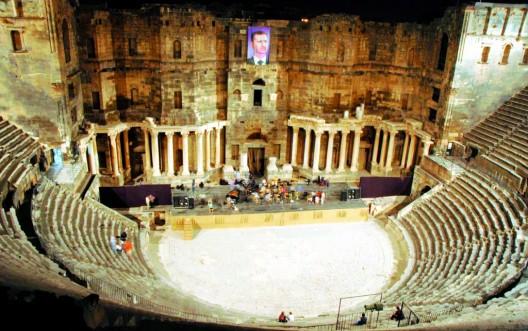 Imagen del teatro romano de Bosra, del siglo II d.C, que acoge las actividades del Festival de música y danza de Bosra