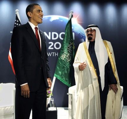 El presidente estadounidense, Barack Obama durante la reunión bilateral que mantuvo con el rey Abdullah bin Abdulaziz de Arabia Saudí en el marco de la cumbre del G-20