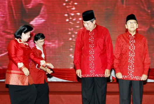 El presidente indonesio y líder del Partido Demócrata