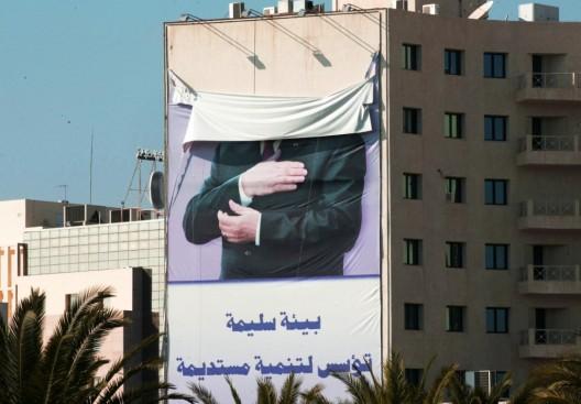 carteles con la imagen del ex presidente Ben Ali
