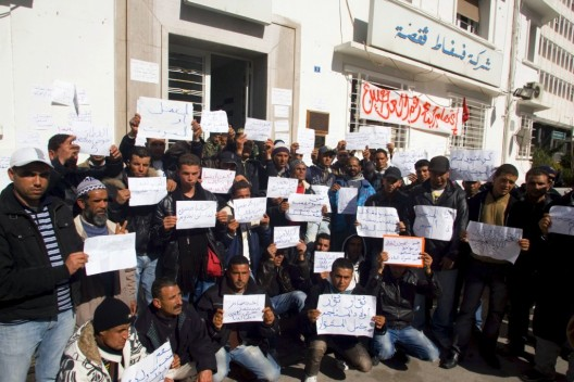 Desempleados se concentran reclamando empleo en las minas