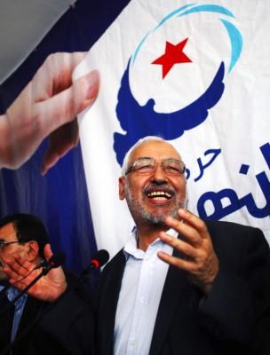 El líder del partido islamista al-Nahda, Rashid Ghannouchi