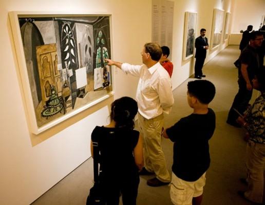Taller organizado con motivo de la exposición Picasso Abu Dhabi: Masterpieces from the Musée National Picasso, Paris