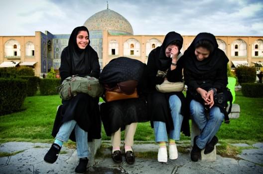 Estudiantes en Isfahán