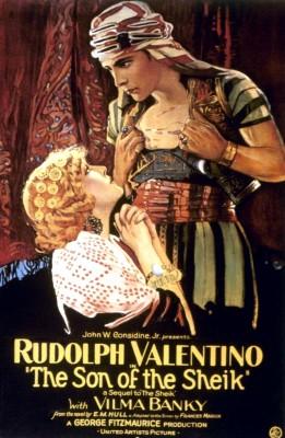 """Cartel de la película """"El Hijo del Caíd"""" de 1926."""