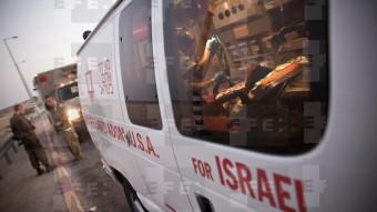 Imagen de una ambulancia israelí del Magen David Adom, la Estrella de David Roja. Frontera Israel-Egipto, 21 de septiembre de 2012. / Oliver Weiken /EFE