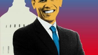 Retrato del actual presidente de los Estados Unidos, Barack Obama