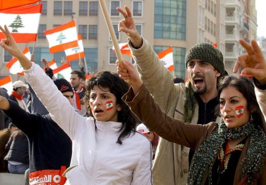 Opositores al gobierno pro-sirio de Líbano