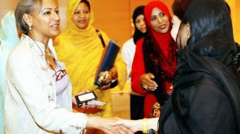La presidenta del Consejo de Mujeres Empresarias Árabes y princesa de Kuwait, Hussa al-Abdullah