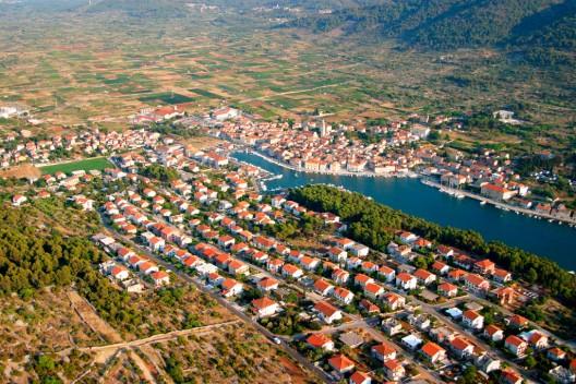 Gran llanura Stari, en la isla croata de Hvar